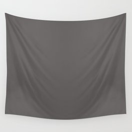 Solid Dark Carbon Gray Color Wall Tapestry
