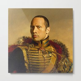 Dwayne (The Rock) Johnson - replaceface Metal Print