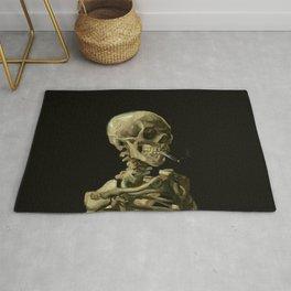 Vincent van Gogh - Skull of a Skeleton with Burning Cigarette Rug
