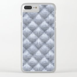 Quilted Soft Blue Velvety Pattern Clear iPhone Case