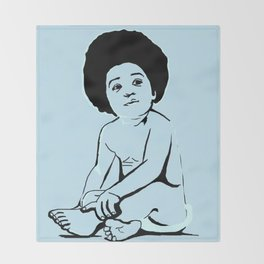 Baby Biggie portrait Illustration Throw Blanket