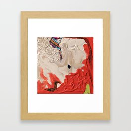 Striped Queen Framed Art Print