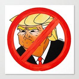 #Resist Orange 45 Canvas Print