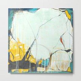 October - Square Abstarct Expressionism Metal Print