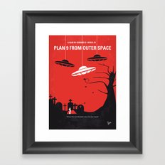 No518 My Plan 9 From Outer Space minimal movie poster Framed Art Print