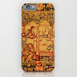 Jesus with Mary Magdalene 16th Century German Tapestry iPhone Case