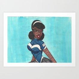 Juilie Portrait Art Print