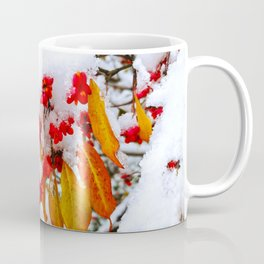 Spindle Tree Flowers Under Snow Coffee Mug