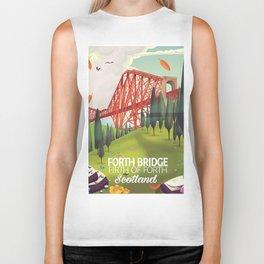 Forth Bridge, Firth of Forth,Scotland Biker Tank