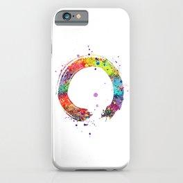 Zen Circle Art Colorful Watercolor Gift Ouroboros Art Spiritual Gift Living Room Decor iPhone Case