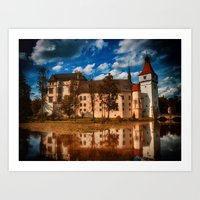 castle in the sky Art Prints featuring Castle by DistinctyDesign