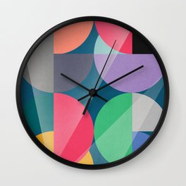 Glowing composition Wall Clock