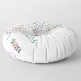 World Metro Subway Map Floor Pillow