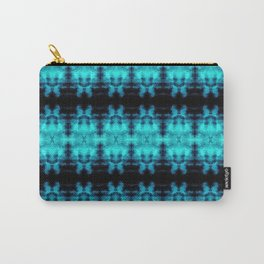 Turquoise Blue Black Diamond Gothic Pattern Carry-All Pouch