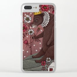Snow-White and Rose-Red (2) Clear iPhone Case