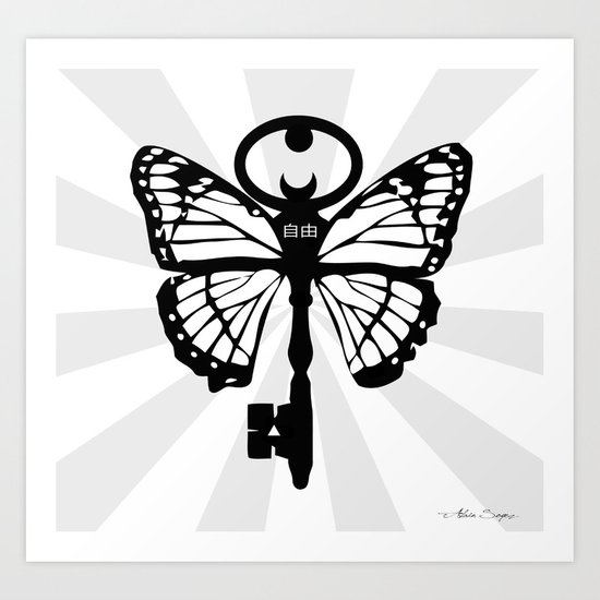 The Key Of Liberty (自由) Art Print