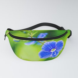 Blue Wildflower And A Fly Fanny Pack