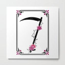 muerte rosa Metal Print