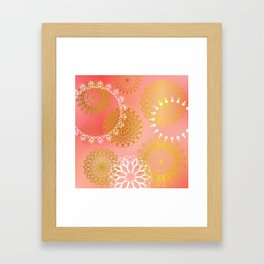 Mandala sky - Marshmallow dream I Framed Art Print