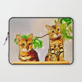 The Bengal Cat Couple Laptop Sleeve