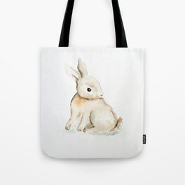 Easter bunny watercolor Tote Bag