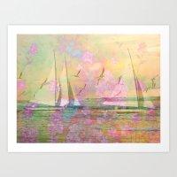 Sailboat Flyby Art Print