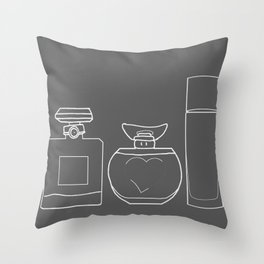 Perfume Throw Pillow