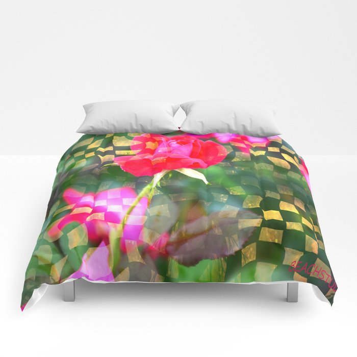 Checkered Rose Comforters