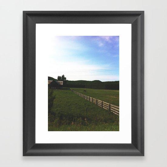 Farm horses Framed Art Print