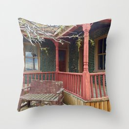 Bottle house rhyolite,ghost town Throw Pillow
