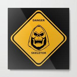 Danger Skeletor Metal Print
