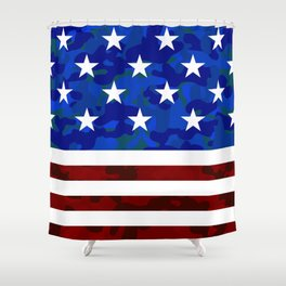 US Flag (Camouflage) Shower Curtain