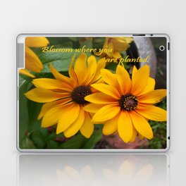 Blossom Where You Are Planted Laptop & iPad Skin