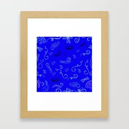 Musical notes or just notes Framed Art Print