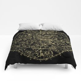 Astro Astronomy Constellations Astrologer Vintage Map Comforters