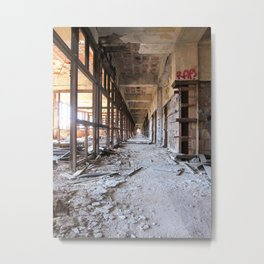 Packard Plant Hall Metal Print