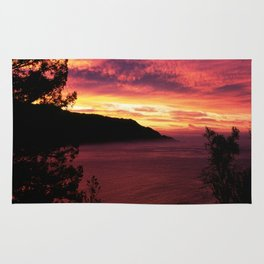 Sunset * Big Sur, California Rug