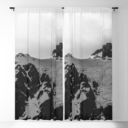 Shuksan Shine Black and White Blackout Curtain