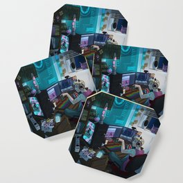 Modern Male Witch: Home Office Coaster