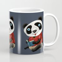 panda Mugs featuring Panda by gunberk