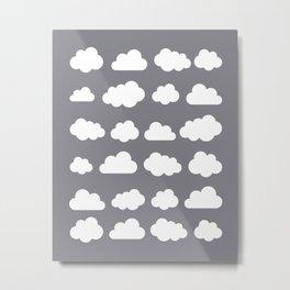Grey clouds on grey winter skies Metal Print