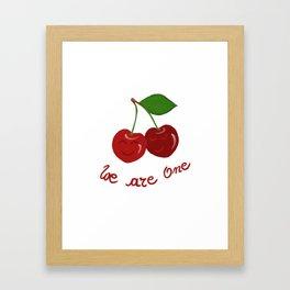 Oh cherry-cherry *in love* Framed Art Print