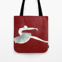 ballerina Tote Bags featuring Ballerina by Nadina Embrey - Artist / Illustrator