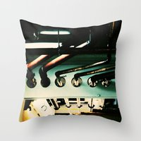 industrial Throw Pillows featuring Industrial by Nina Saunders
