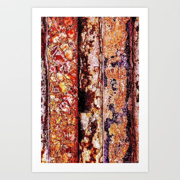 """Orange-Blue-Bed"" Art Print"
