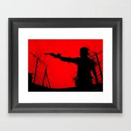 The Walking Dead Rick Framed Art Print
