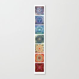 Seven (the chakras) Canvas Print