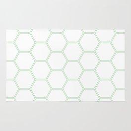 Honeycomb Mint Green #192 Rug