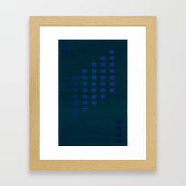 Green with squares Framed Art Print