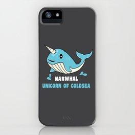 Narwal Unicorn of the Deep Sea Ocean Putzig Gift iPhone Case